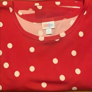 LuLaRoe Jesse. Size 2X. NWOT. Red polka dot.